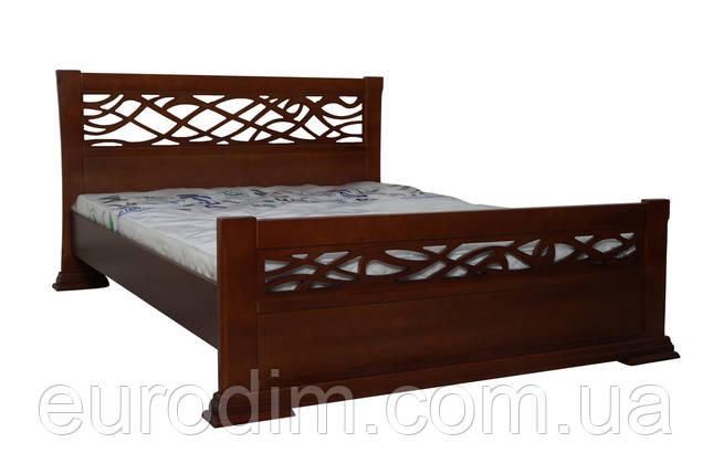 Кровать Лиана 1600 х 2000   орех, темный орех, фото 2