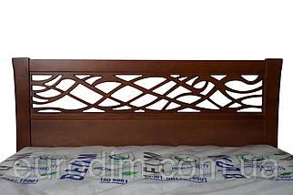 Кровать Лиана 1600 х 2000   орех, темный орех, фото 3