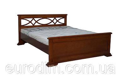 Кровать Мрия темный орех