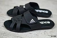 Мужские кожаные шлепанцы Adidas  (Реплика)  (Код: A-126  ) ► [40,41,42,43,44,45], фото 1