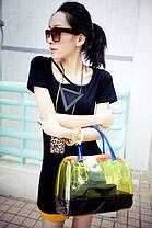 Модная прозрачная сумка + клатч 2в1 с принтами для стильных девушек, фото 2