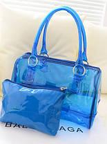 Модна прозора сумка + клач 2в1 з принтами для стильних дівчат, фото 3