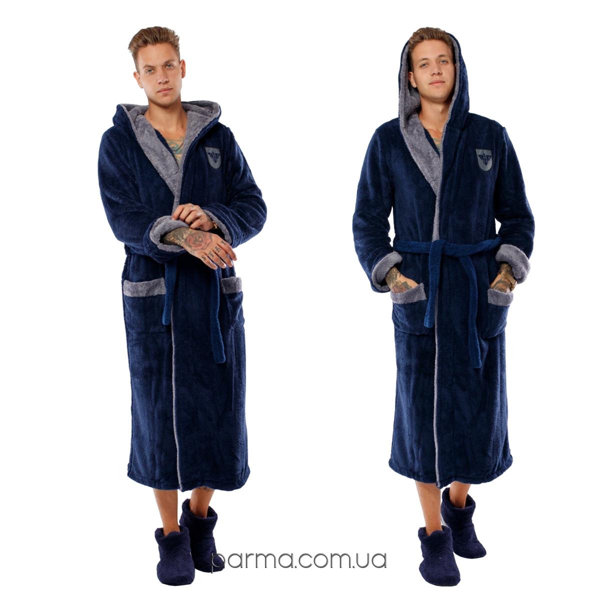 08bb9befcf897 Длинный махровый мужской халат с капюшоном р.48-54 - Интернет магазин PARMA  в