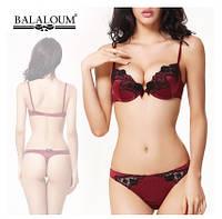 Комплект нижнего женского белья Balaloum бордо
