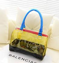 Модна прозора сумка + клач 2в1 з принтами для стильних дівчат, фото 2