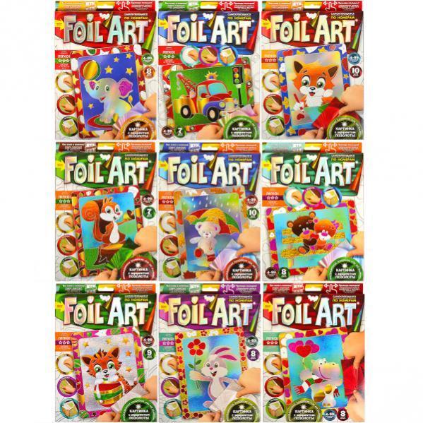Аппликация цветной фольгой по номерам «Foil art»