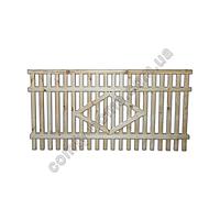 Забор деревянный штакетный
