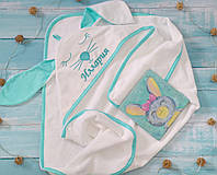Детское банное полотенце зайка
