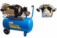 Компрессор двухпоршневой 3,0 кВт, ресивер 50 л, 420 л/мин, 8 Атм, 220В Mastertool КПП-50-2