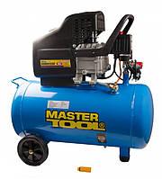 Компрессор поршневой 2 кВт, ресивер 50 л, 220 л/мин, 8 Атм, 220В Mastertool КПП-50-1