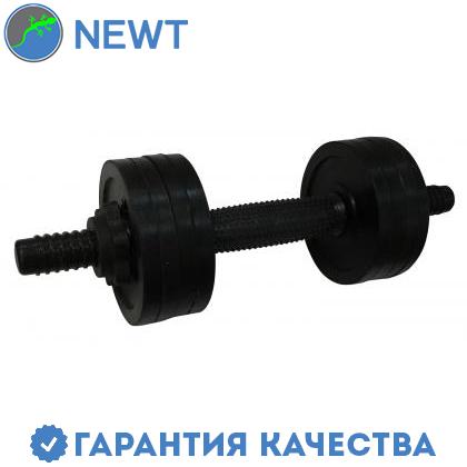Гантель обрезиненная Newt PL 4,5 кг, фото 2