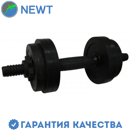 Гантель обрезиненная Newt PL 6,5 кг, фото 2