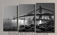 "Модульная картина на холсте из 3-х частей ""New York City"" ( 55х96 см )"