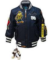 Детский бомбер Топ Ган Kid's MA-1 Champs Bomber with hoodie (синий)