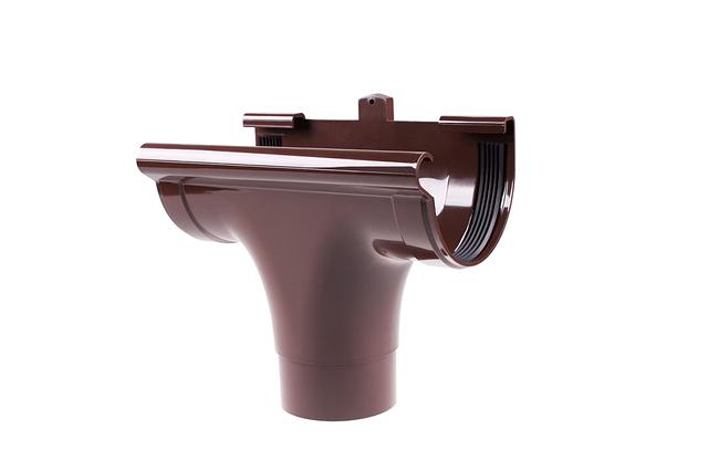 Ливнеприемник проходной 130/100 мм, дождеприемник пластиковый для крыши,  Водосточная система Profil