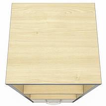 Шкаф М35 АртМобил ( 410х425х1280мм) клен/кромка серый металлик ТМ AMF, фото 3