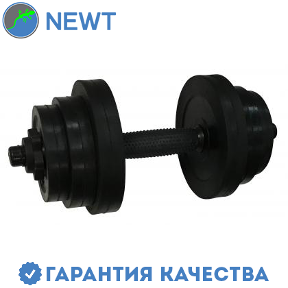 Гантель обрезиненная Newt PL 12,5 кг, фото 2