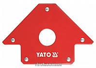 Струбцина магнитная YATO для сварки 102 х 155 х 17 мм 22.5 кг Ø=18 мм