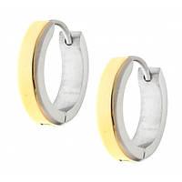 Серьги кольца женские из стали 16 мм 101978