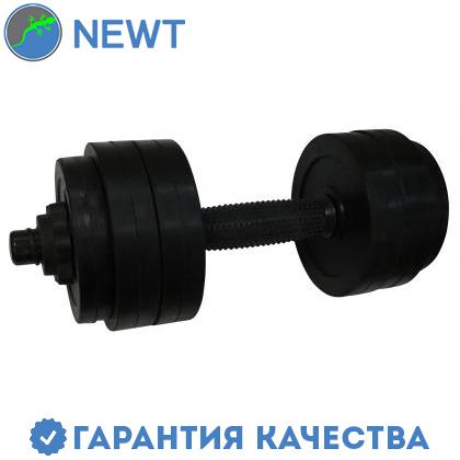 Гантель обрезиненная Newt PL 14,5 кг, фото 2