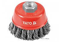 Щетка-крацовка чашеобразная YATO Ø=60 мм
