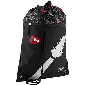 Сумка для обуви с карманом Kite Education 601L-9 Be sound K19-601L-9 ранец  рюкзак школьный hfytw ranec, фото 2