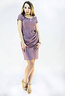 Платье лилового цвета приталиное, фото 1