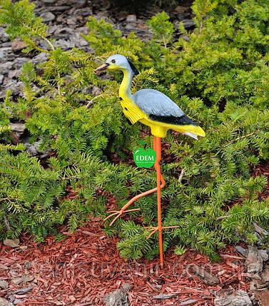 Садовая фигура Цапля на металлических лапах малая, фото 2