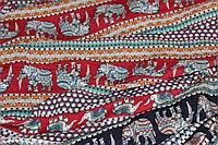 фон красный.Штапель .индийский слон № 439 (100% вискоза), фото 1