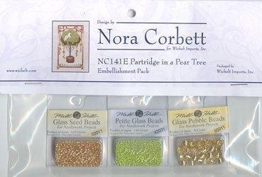 Набор бисера к схеме Partridge in a Pear Tree / Куропатка в грушевом дереве Nora Corbett Embellishment Pack