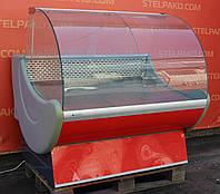 Холодильная витрина колбасная «Cryspi Prima» 1.3 м. (Россия), Очень широкая выкладка 80 см., Б/у, фото 1