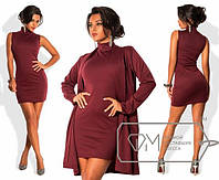 Костюм женский деловой платье кардиган