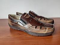 Туфли мужские летние коричневые (код 719), фото 1