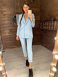 Женский стильный брючный костюм: пиджак и брюки (в расцветках), фото 3