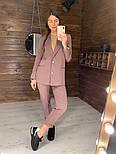 Женский стильный брючный костюм: пиджак и брюки (в расцветках), фото 4