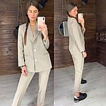 Женский стильный брючный костюм: пиджак и брюки (в расцветках), фото 2