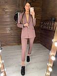 Женский стильный брючный костюм: пиджак и брюки (в расцветках), фото 7