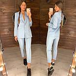 Женский стильный брючный костюм: пиджак и брюки (в расцветках), фото 5