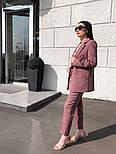 Женский стильный брючный костюм: пиджак и брюки (в расцветках), фото 6