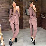 Женский стильный брючный костюм: пиджак и брюки (в расцветках), фото 8