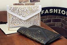 Элегантный клатч конверт винтажного стиля, фото 3