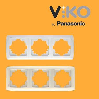 Потрійна горизонтальна рамка VIKO Carmen, фото 2