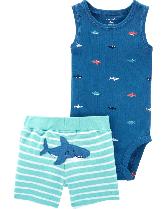 """Набор с шортами """"Little shark"""" 3м,6м,9м,12м,18м,24м"""