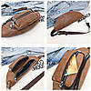 Стильная поясная унисекс сумка бананка под кожу, фото 4