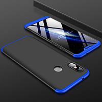 Чехол GKK 360 для Xiaomi Mi A2 Lite / Redmi 6 Pro бампер оригинальный Black-Blue