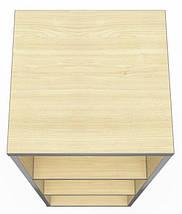 Шкаф М33 АртМобил (410х405х1280мм) клен/кромка серый металлик ТМ AMF, фото 3
