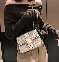 Вінтажна твідовий сумка скринька з пряжкою, фото 2