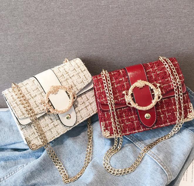 Вінтажна твідовий сумка скринька з пряжкою