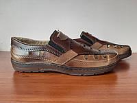 Босоніжки сандалі чоловічі коричневі прошиті (код 719), фото 1