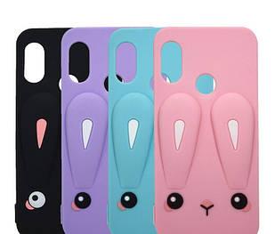 Чохол гумовий 3D Rabbit для Xiaomi Mi A2 / mi 6X (3 кольори)